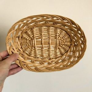 Other - Small Oval Wicker Basket